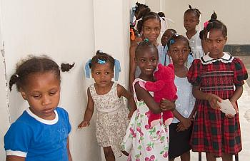 Orphan girls in Haiti