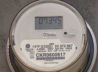 Hydro Meter with TuNET 900 MHz module installed